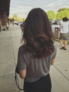 Image result for light brown balayage on dark hair