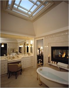 charming master bathroom fireplace | 65 Best Cozy Bathroom Fireplaces images | Bathroom ...