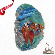 HAND PAINTED HORSE GEMSTONE STONE  NECKLACE PENDANT BEAD ZL80 22326 | Jewelry & Watches, Fashion Jewelry, Necklaces & Pendants | eBay!