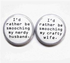 1 Inch Magnet Set - Magnetic Attraction. $6.00, via Etsy. I have to have these! They are so us!