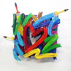 David Gerstein: Wall Sculptures | Graffiti Heart