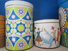 lovely vintage tins from my rainbow vintage home blog