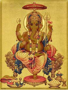ガネーシャ・ポスター(A4サイズ、G196GG) Sri Ganesh, Ganesha Art, Lord Ganesha, Hindu Art, Buddhist Art, Hare Krishna, Indian Gods, 2d Art, Gods And Goddesses
