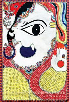 Ganesha in prayer by Bharti Dayal.