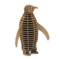 Karton Eco Penguin - for a sustainable, architectural way to have a penguin around the house (without ice, fish, or meeping!)... I'd paint him in orange and turquoise, I think