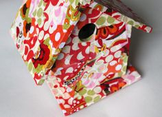 Fabric covered birdhouse! Doing this for mothers day!