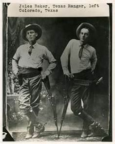 Jules Baker and Henry Lee Ransom, Texas Rangers, Captain Ransom was shot and killed while investigating a shooting in 1918.