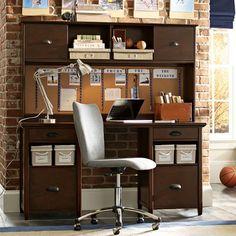 Chatham Large Storage Desk + Hutch | PBteen