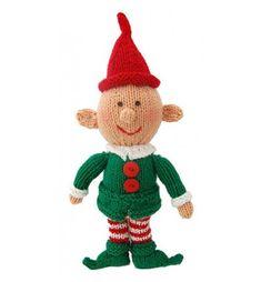 Happy Little Elf - Free Christmas Knitting Pattern Christmas Knitting Patterns, Knitting Patterns Free, Free Knitting, Baby Knitting, Free Pattern, Knitted Dolls, Crochet Dolls, Marionette, Universal Yarn