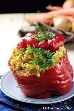 Fruit Recipes, Healthy Recipes, Chicken Stuffed Peppers, Good Food, Food And Drink, Healthy Eating, Lunch, Dinner, Cooking