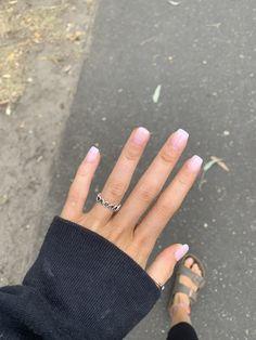beautiful acrylic short square nails design for french manicure nails 11 ~ . - beautiful acrylic short square nails design for french manicure nails 11 ~ my. Cute Acrylic Nails, Cute Nails, Pretty Nails, Short Nails Acrylic, Pretty Short Nails, Short Fake Nails, Short Acrylics, Pink Nails, My Nails