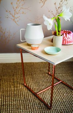 A cooper-leg table from @SweetPaul takes less than 30 minutes to make.