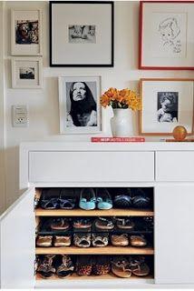blog de decoração - Arquitrecos: Sapateira na sala é muito prático (e pode ser bonito...)