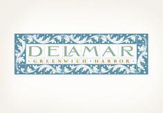 Delamar   Louise Fili Ltd Vintage Typography, Typography Logo, Graphic Design Typography, Branding Design, Logo Design, Logos, Louise Fili, Stationary Design, Communication Art