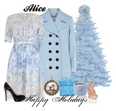 Alice Happy Holidays by amarie104 on Polyvore featuring mode, Zimmermann, Planet, Christian Louboutin, Emma Bridgewater and Joy To the World