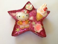 Magnet Kawaii Kitty Loves Ice Cream Cone Pink by KawaiiWhimsy, $12.00