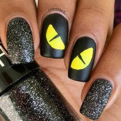 Pin for Later: 102 Halloween Nail Art Ideas That Are Better Than Your Costume Sinister Stare