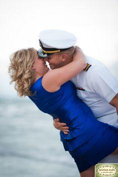 She loves her man in uniform :)