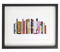 "Amazing idea - artist Jane Mount creates custom paintings of your ""ideal bookshelf""."