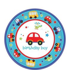 All Aboard 1st Birthday Dessert Plates 8ct - Party City Canada