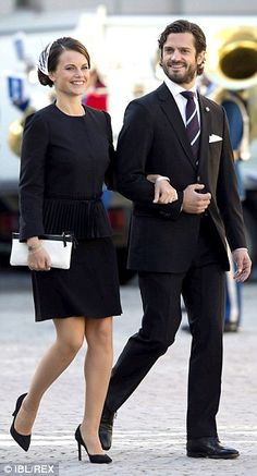 Stylish: Miss Hellqvist looked every inch the royal bride to be for the opening of the Swedish Parliament, which she attended with Prince Carl Philip Princesa Victoria, Princesa Diana, Princess Sofia Of Sweden, Royal Princess, Kate Middleton, Prinz Carl Philip, Royal Clothing, Royal Brides, Swedish Royals