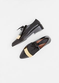 Marni Metal Trim Tongue Derby (Coal)