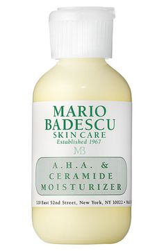 Light and airy and it works!  Part of my routine Mario Badescu A.H.A. & Ceramide Moisturizer available at #Nordstrom