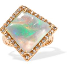 18-karat rose gold, opal and diamond ring, Kimberly McDonald, Women's,... (11,690 JOD) ❤ liked on Polyvore featuring jewelry, rings, handcrafted jewelry, opal jewelry, opal ring, rose gold diamond jewelry and 18 karat gold jewelry