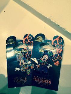 Halloween pins from Disneyland