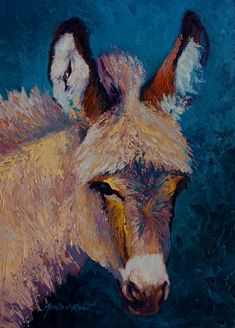 Mystic - Burro Painting by Marion Rose - Mystic - Burro Fine Art Prints and Posters for Sale