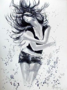 Dance 2-Original Watercolor Painting