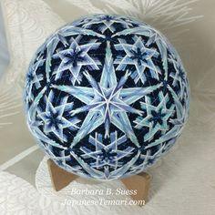 Snowflakes Japanese Temari Original Pattern by door JapaneseTemari
