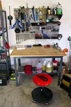 stool and tools