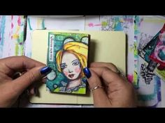 Mini Art Journal Flip - YouTube