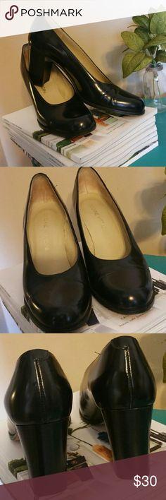 Adrienne Vittadini black leather pump. Adrienne Vittadini black leather pump.  Excellent condition.  Barely used.  Leather sole also. Adrienne Vittadini Shoes Heels