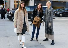 Brie Welch with a Simon Miller bag and Alumnae shoes, Lilli Millhiser, and Laura Stoloff