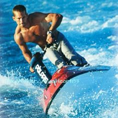 Paul Walker doing athletic pursuits like Jet Skiing.