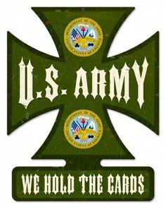 "U.S. Army Sign - 24 gauge metal 14"" x 18"""