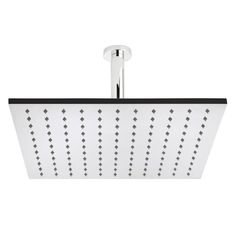 Large Square 400mm Fixed Shower Head and Ceiling Arm - Image 1