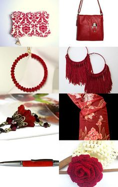 Red. . .Sweet. . .Cherry A Hot Etsy Treasury by Designed by Mist and Pinned with TreasuryPin.com