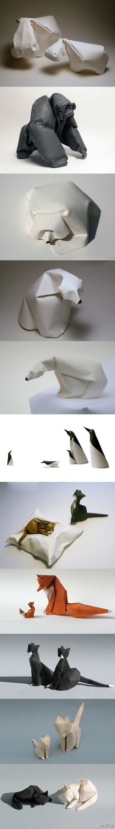 Origami Zoo by Dinh Truong Giang #Origami #Animals