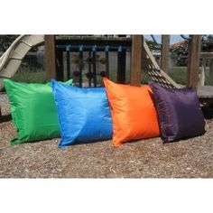PURPLE Outdoor Cushion, 90cm x 90cm Square, easy wipe to clean, set of 4 outside in playground