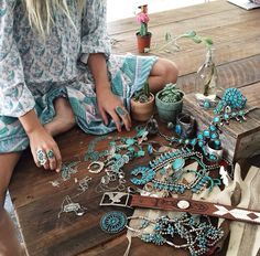 ☮ American Hippie Bohéme Boho Style Jewelry ☮ Turquoise