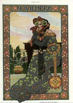 Gaspar Camps i Junyent (Spanish, painter, illustrator and poster artist of the Art Nouveau and Art Deco. From the Barcelona magazine Álbum Salón Art And Illustration, Illustrations, Design Art Nouveau, Art Nouveau Poster, Vintage Artwork, Vintage Posters, Alphonse Mucha Art, Retro, Jugendstil Design