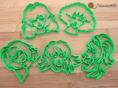 Jem and the Holograms Cookie Cutter Set of 5 by Francesca4me on Etsy