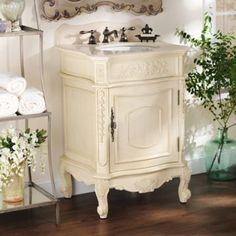 There's nothing more beautiful than the Ivory Sinclair Vanity Sink! #Kirklands #BedandBath