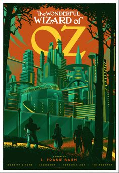 Fantastic take on The Emerald City. No special glasses required. Laurent Durieux.