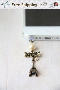 FREE Shipping-iPhone Earphone Plug. Paris Eiffel Tower iPhone