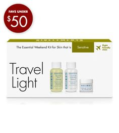 Travel Light for Sensitive skin - 35.    The essential weekend kit for sensitive skin  Flight-friendly sizes  Includes preview sizes of Sensitive Skin Cleanser, Calmitude Hydrating Solution and Calmitude Sensitive Skin Moisturizer