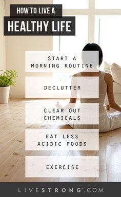 The healthy life checklist.